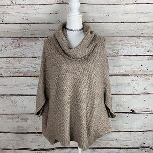 Design History 3/4 sleeve Poncho Sweater XL